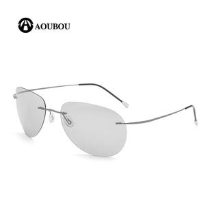 Image 3 - Photochromic night vision goggles oculos de grau masculino Frameless gafas hombre kingseven gunes gozlugu lentes de sol hombre8G