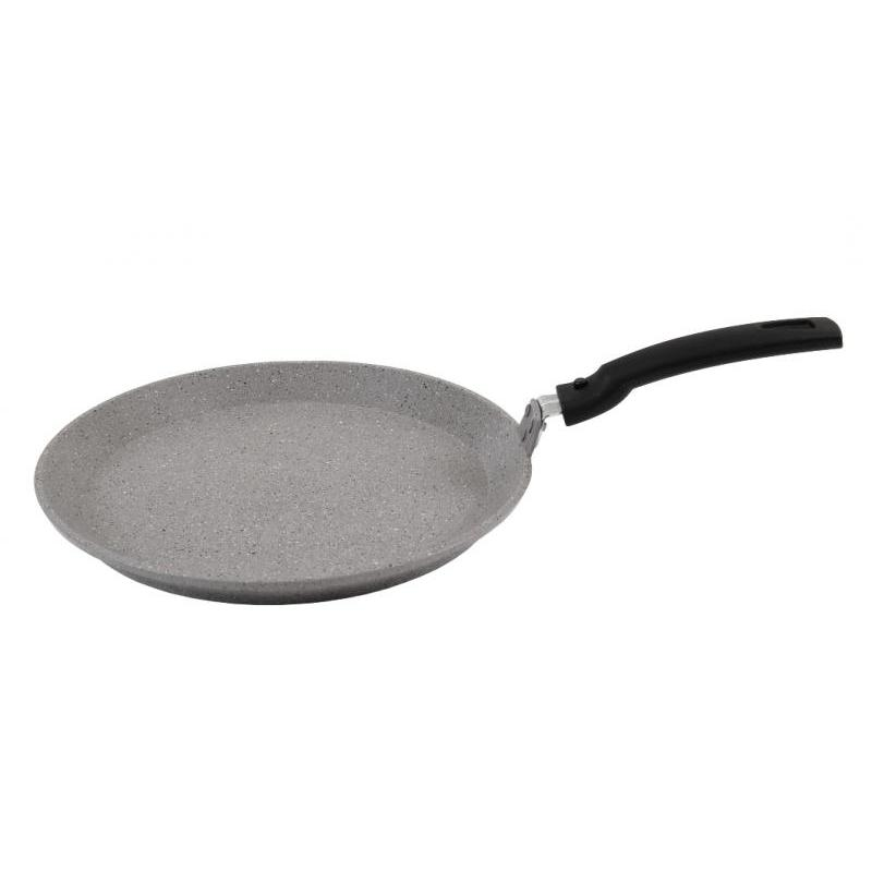 Frying Pan Griddle Kukmara, Marble, 24 Cm, With Non-stick Coating, With Removable Handle, Light Marble