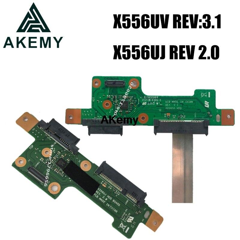 Akemy HDD BOARD USB Board For ASUS X556U X556UV X556UJ X556UV X556UB X556UA X556UF Hard Disk Board REV:3.1 REV 2.0