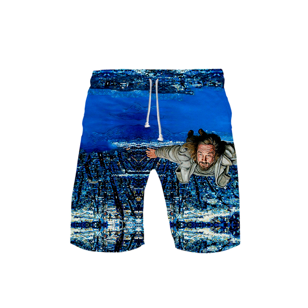 Beach-Shorts Jogger Sporty Gyms Training Biker-Workout The And Male Print Big Trunks
