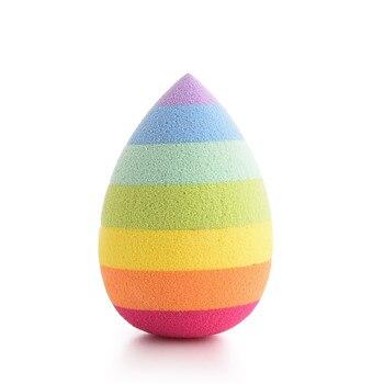 1 PCS Soft Hydrophilic Rainbow Makeup Sponge BB Cream Beauty Egg Wholesale Puff Wet Dry Dual Use Face Foundation Powder