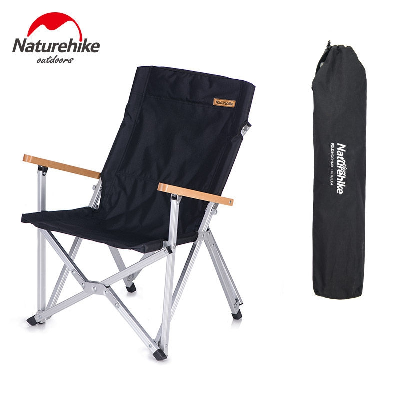 Naturehike Dobrável Cadeira Durável Portátil Camping Caminhadas Liga De Alumínio Pólo Encosto de Viagem Piquenique Ao Ar Livre Pesca NH19JJ004