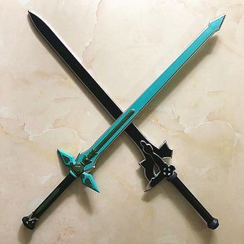 цена на 1:1  Sword Art Online SAO  80cm Sword Asuna Weapon Action Figure Kirigaya Kazuto Elucidator/Dark Repulser Cosplay Sword PU Foam