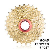 Ztto 11 s 28 t 도로 자전거 카세트 플라이휠 11 속도 freewheel 도로 자전거 스프로킷-황금