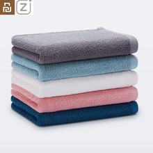Youpin ZJ 100% Cotton Towel soft absorbent adult towel Travel Gym Sport Camping Swimming Pool quick drying towel 32x70cm 5 Color