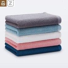 Youpin ZJ Toalla de algodón 100% para adultos, toalla suave y absorbente para viajes, gimnasio, deporte, Camping, piscina, toalla de secado rápido, 32x70cm, 5 colores