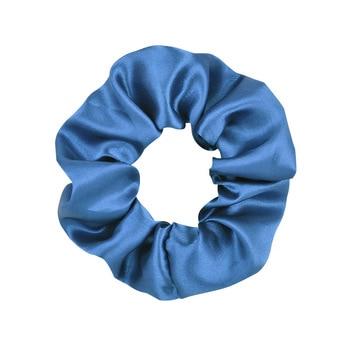 3.9 inch Women Silk Scrunchie Elastic Handmade Multicolor  Hair Band Ponytail Holder Headband Hair Accessories 16