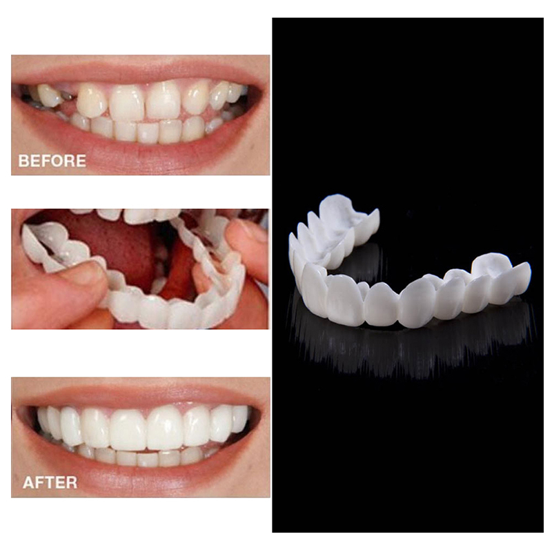 1PC Cosmetic Dentistry Snap On Smile Instant Perfect Smile Comfort Fit Flex Teeth Fits Most False Teeth Upper Tooth Cover