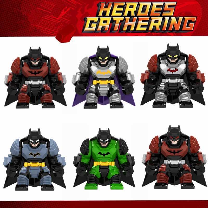 For Batman Movie Figures Sets Thanos Spiderman Iron Man Hulk Venom Korg Marvel Avengers Model Building Blocks Toys for Children
