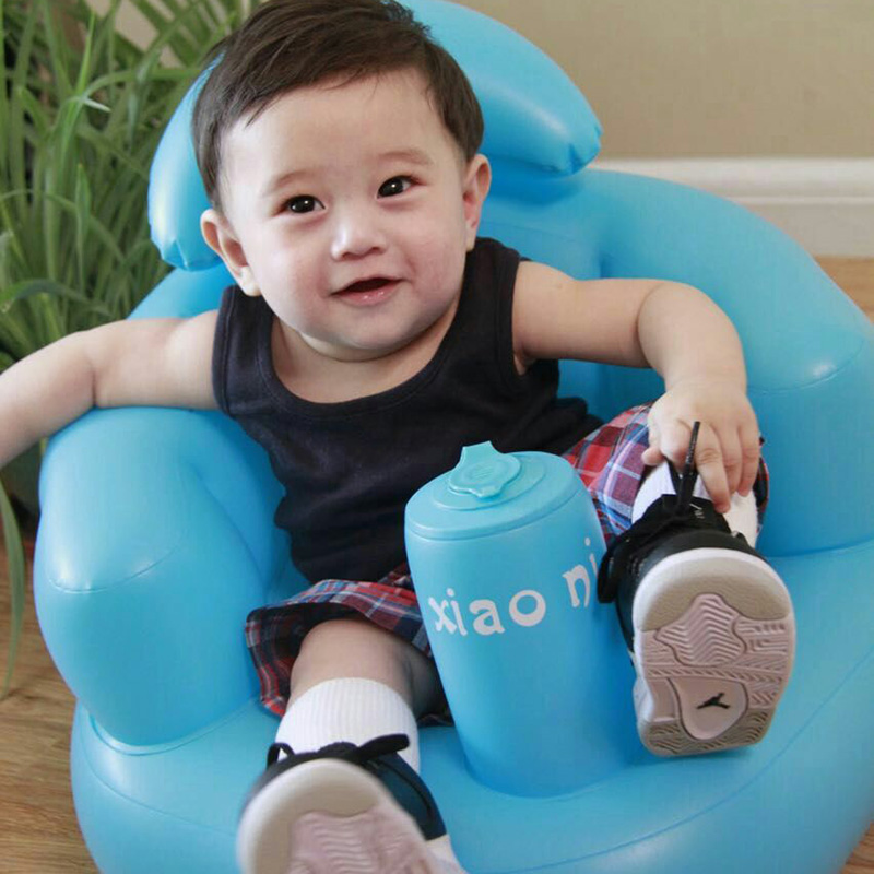 Baby Kid Children Inflatable Bathroom Sofa Chair Seat Learn Portable Multifunctional New LXY9