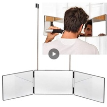 1 Pc 3-Way Mirror A 360-degree Viewing Angle Practicing Mirror For Self Hair Cutting And Styling DIY Haircut Tool Wholesale