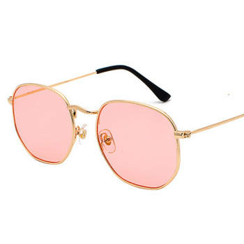 2020 Men Hexagon Sunglases Women Brand  Driving Shades Male Sunglasses For Men's Glasses Gafas De sol UV400 - Gold clear pink