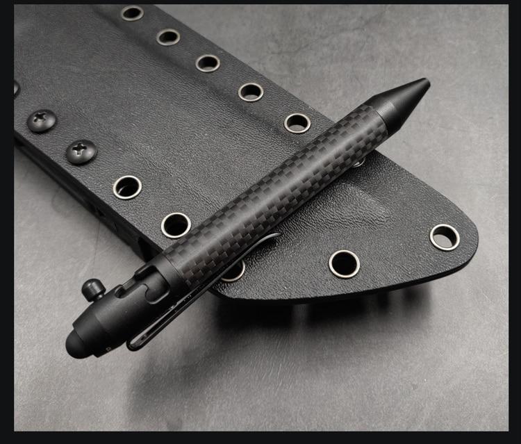 Gun Bolt Tactical Pen Business Writing Pen Carbon Fiber EDC Pen