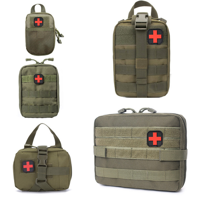 Hunting Survival First Aid Bag Outdoor SOS Pouch Army Tactical Waist Bag Medical Kit Bag Molle Belt Backpack EDC Emergency Pack 1