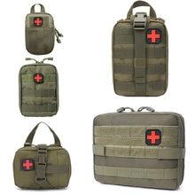 Caza de supervivencia bolsa de primeros auxilios al aire libre SOS bolsa ejército cintura táctica bolsa Kit médico bolso Molle Correa mochila EDC Pack de emergencia