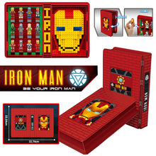 цена на Iron Man Figures Collections Book Building Blocks Compatible Avengers Toy Bricks Toy Gift for Children Dropshipping