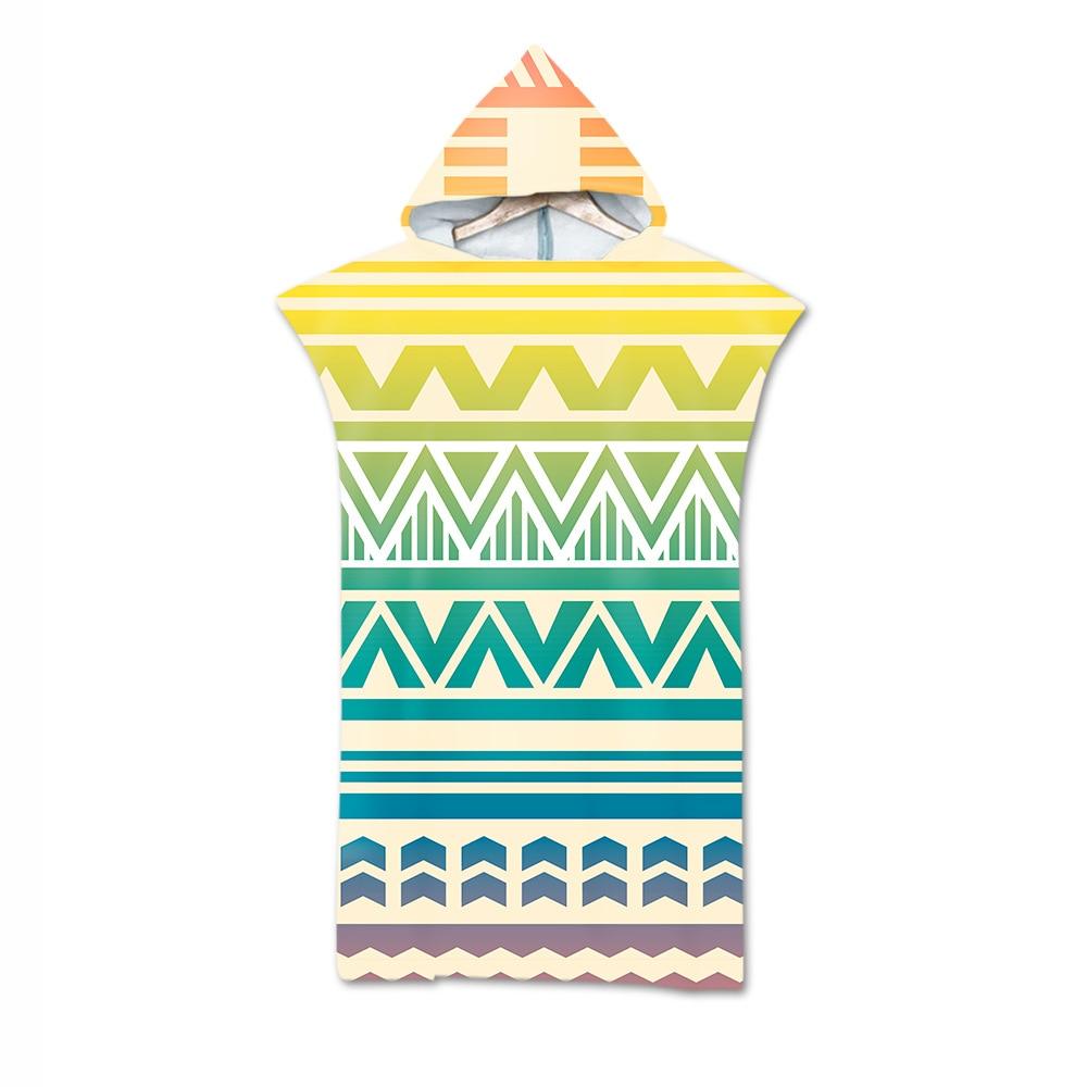2019 Hot Selling 3D Digital Printing Beach Towel Adult Hooded Bath Towel Superfine Fibre Mandala