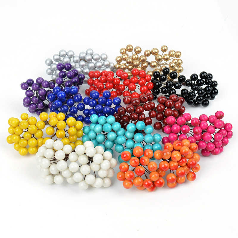 Details about  /Mini Artificial Flowers Stamens Christmas Wreath Gift Box Decor Pearl Foam Berry