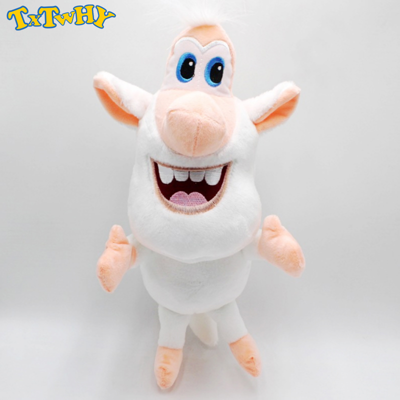 15cm-38cm Russian Cartoon Booba White Pig Cooper Plush Toys Doll Soft Stuffed Doll For Kids Birthday Christmas Gifts