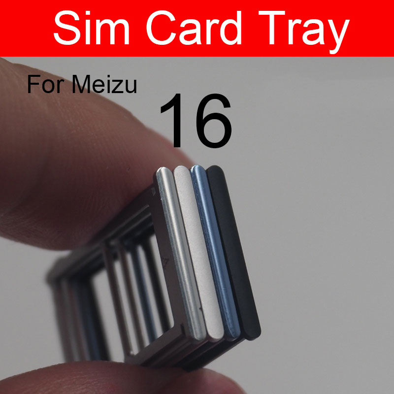 SIM Card Tray Holder For Meizu 16 16th M882H M882Q Micro Sim Card Slot Adapter Cell Phone Replacement Repair Parts
