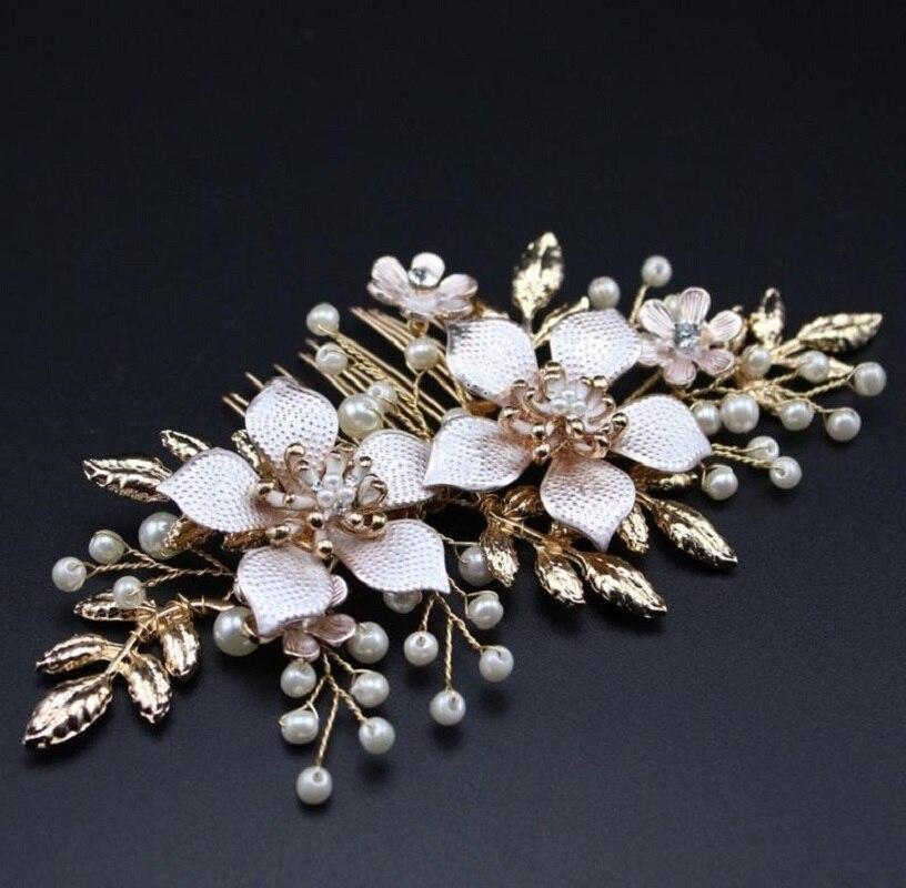 Accesorios para el pelo de la boda de las mujeres del Peine del pelo de la novia de la joyería del pelo de la perla
