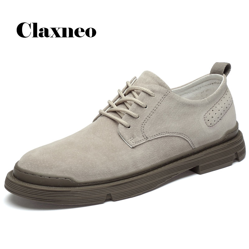 CLAXNEO Man Leather Shoes Fashion 2020 New Arrival Male Suede Leather Shoe Design Clax Men's Ankle Boot Walking Footwear