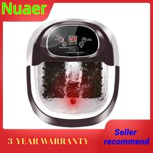 Foot Spa/Bath, 36 Massage Rollers Foot Bath with Heat and Massage Infrared Bubble Time-settable Digital Temp Control Foot Soaker
