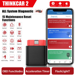 [US UK CZ Ship] Launch ThinkCar 2 Full System Diagnostic Tool Bluetooth for iOS Android PK Thinkdriver