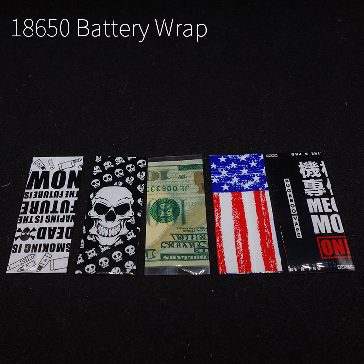 10pcs/lot 18650 Battery Case Skull Battery Protective Covers Heat Shrink Tubing Sleeving Ecig Accessory