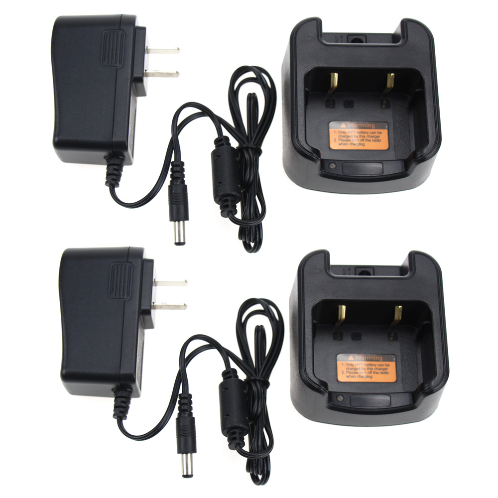 2Pcs Walkie Talkie Battery Charger For HYTERA HYT BL1719 TC-510 TC-585 TC-500S Radio