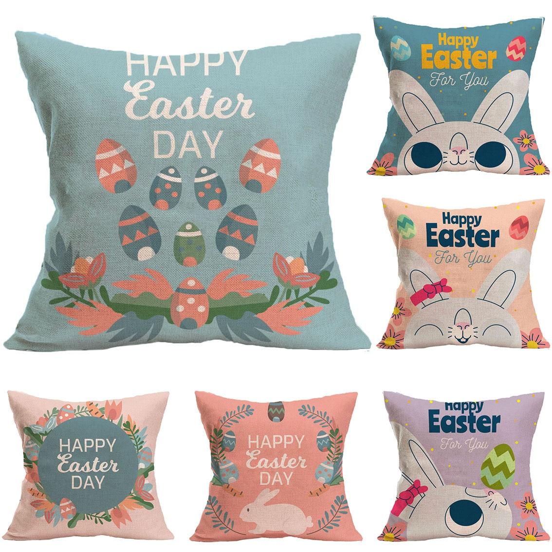 Hy Easter Day Cartoon Rabbit Egg