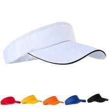 Unissex vazio topo viseira boné feminino protetor solar chapéus homem algodão snapback boné ajustável para tênis de corrida golfe