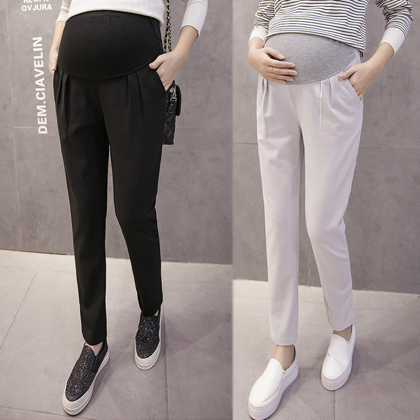Pregnant women's pants 2019 spring and autumn thin section leggings wear summer trousers maternity clothes spring pants