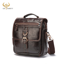 Quality Original Leather Male Casual Shoulder Messenger bag Cowhide Fas