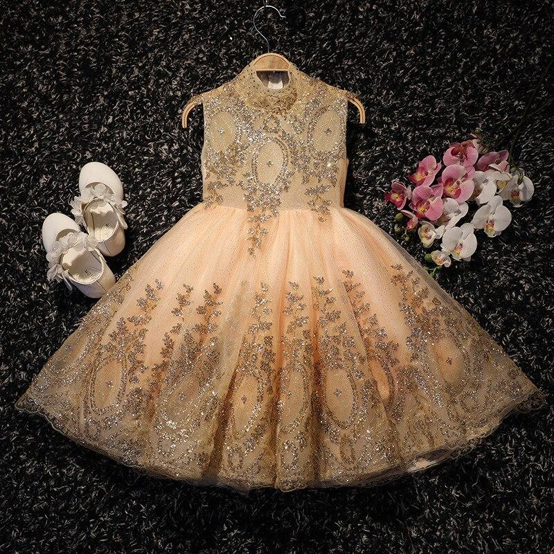 Girl'S Gown Princess Skirt Piano Costume Small Host CHILDREN'S Full Dress Wedding Dress Flower Boys/Flower Girls Princess Tutu