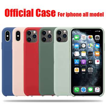 Official Original Silicone Case For iPhone 7 8 Plus X XS Max XR 6 6S 12 Pro Case For iPhone 11 Pro Max SE 2020 Cover 1