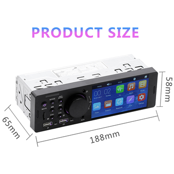 4-Inch Manual Bluetooth Media Music LCD Touch Screen Multimedia Radio Mp5 Car Video Player image