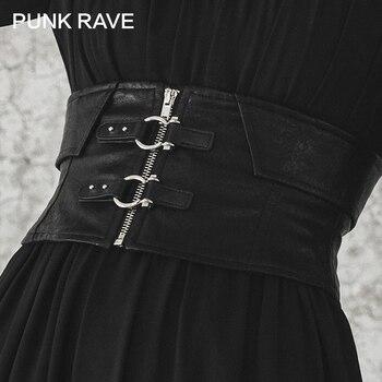 Punk Rave Meisje Gothic Faux Lederen Gesp-Up Underbust Riem Voor Vrouwen Harajuku Accessoires