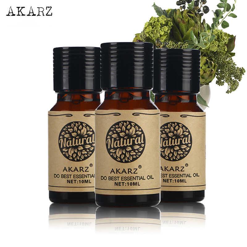 L'huile essentielle de Lotus de romarin de lys place la marque célèbre d'akarz pour le Massage d'aromathérapie bain de station thermale soin de visage de peau 10ml * 3