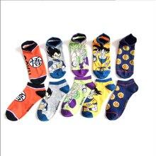 2021 style japonais et coréen chaussettes dessin animé anime couple mi-mollet stocks 5 paires/pièce
