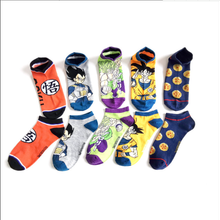 2021 Japanese and Korean style socks cartoon anime couple mid-calf stocks 5 pairs/piece