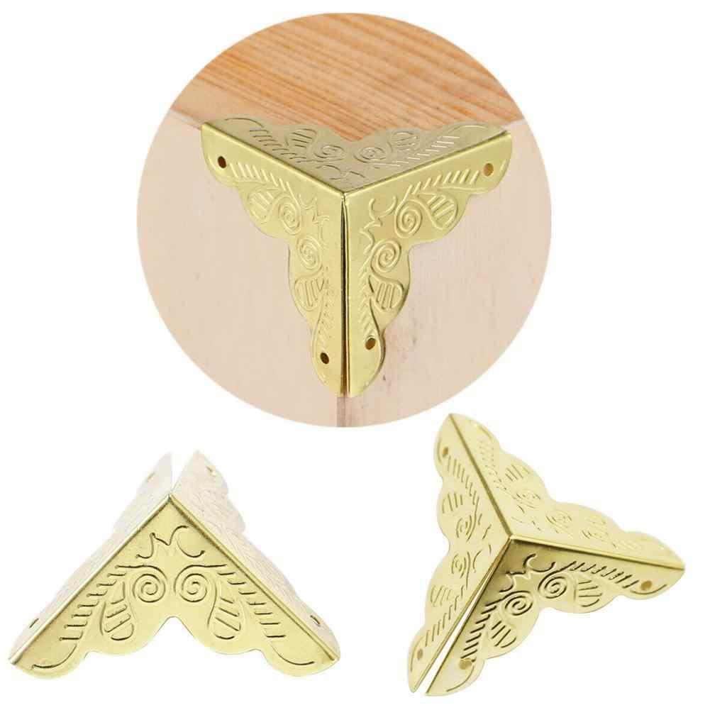 1 unidad de caja de regalo de caja de madera con impresión clásica, caja de regalo, esquina de ángulo recto de hierro, decoración clásica china de caja de vino