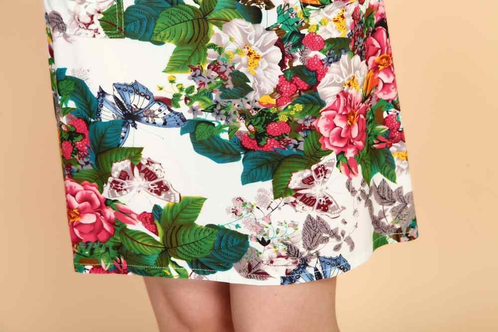 L-5XL 2019 femmes robes de grande taille mince tunique lait soie imprimé fleuri imprimé Vestido Feminino tenue décontractée ample