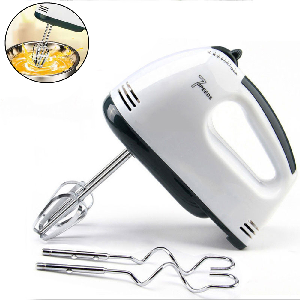 Multifunctional Mini 7 Speed Manual Electric Handheld Mixer Egg Beater Automatic Cream Food Cake Baking Dough Mixer Food Blender