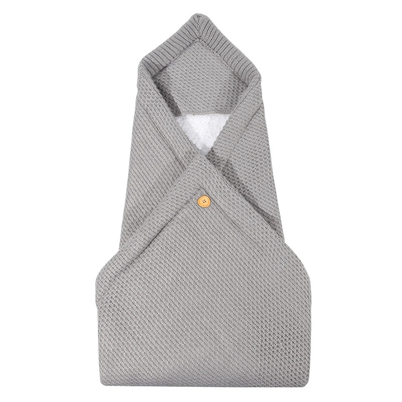 Baby Sleeping Bag Winter Warm Baby Fleece Wrap Blanket 0-6M Baby Stroller Bedding Envelope Children Sleep Bag