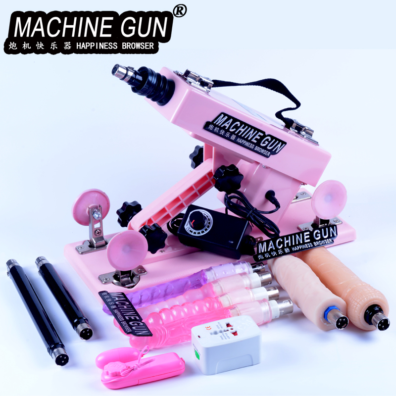 2020 New Sex Machine Female Masturbation Pumping Gun With 6 Dildos Attachments Automatic Sex Machines For Women Sex Products