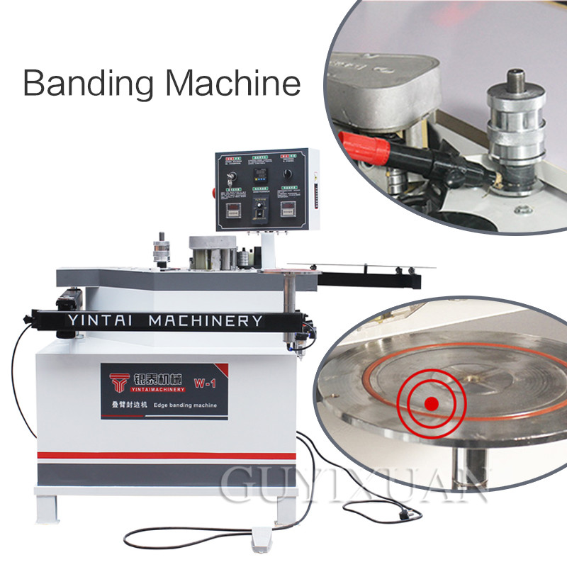 Curve Straight Line Edge Manual Banding Arm Stacked Automatic Band Break Infinitely Variable Speed Woodworking Machines Synchron