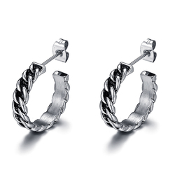 Corrente de buda brincos de corrente charme masculino brincos do parafuso prisioneiro pulseira jóias presente de prata moda punk buddha brincos femininos ve168