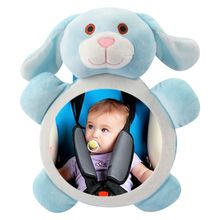 Car Baby Rearview Mirror Mini Wide View Rear Adjustable Safety Seat Back Mirrors Headrest for Kids Cars Accessories