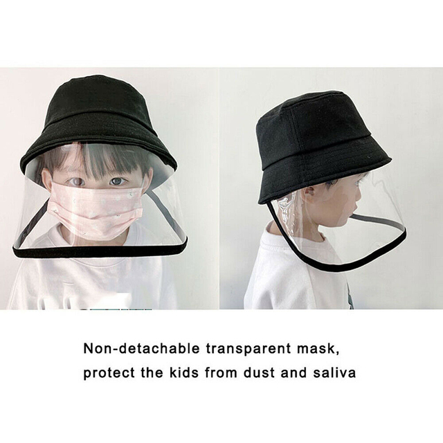 Kids Anti C19 Masks For Boys Girls with Hat dust-proof Anti Flu Baby Mask Outdoor Toddler Safety Protective mask D35 2